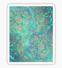 Saphir und Jade Glasmalerei Mandalas Sticker