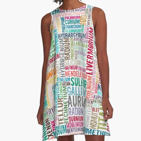 Chemische Elemente  in Farbe... A-Line Dress