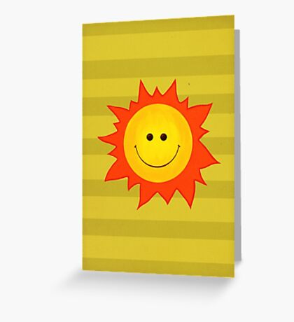 Happy Smiling Sun Greeting Card