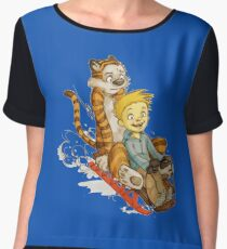 Calvin And Hobbes Speed Chiffon Top