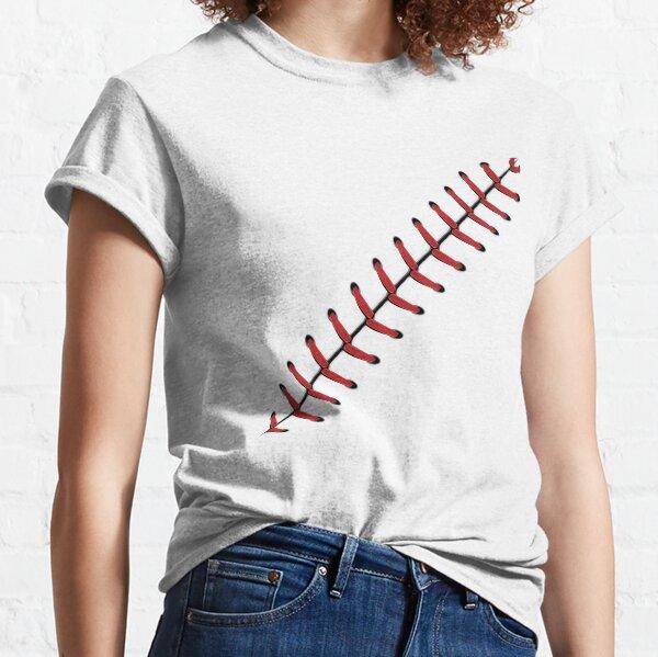 Baseball Lace Background 2 Classic T-Shirt