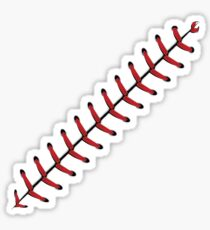 Baseball Lace Background 2 Sticker