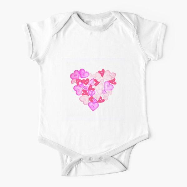 HEART Short Sleeve Baby One-Piece
