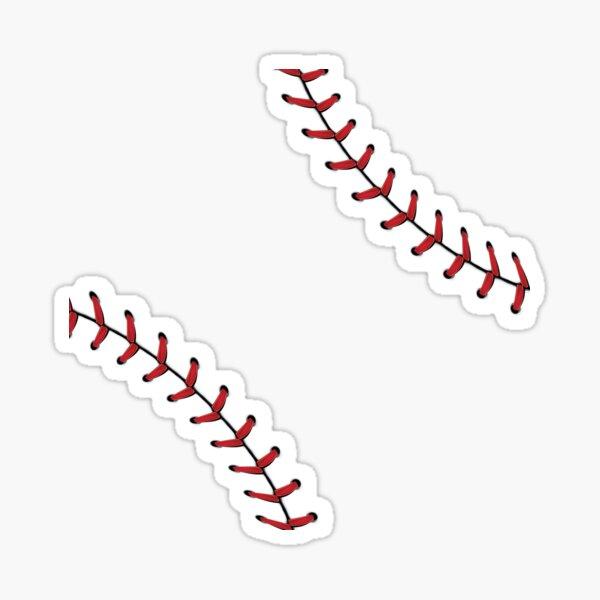 Baseball Lace Background 5 Sticker