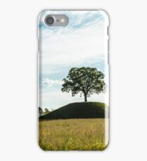 the sun goes down behind a lonely tree iPhone Case/Skin