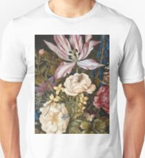 Vintage famous art - Balthasar Van Der Ast  - Still-Life With Flowers Unisex T-Shirt