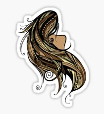 Tapa Hair - Brown/Gold Sticker