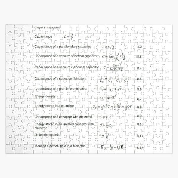 Chapter 8 Capacitance Jigsaw Puzzle
