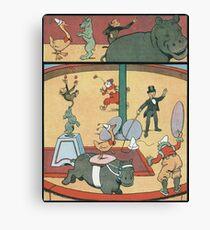 Vintage famous art - Benjamin Rabier - Animal Circus  Canvas Print