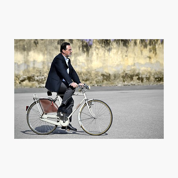 Two-wheeled transport in Lucca, Italy Photographic Print