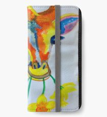 Giraffe daffodil fields  iPhone Wallet