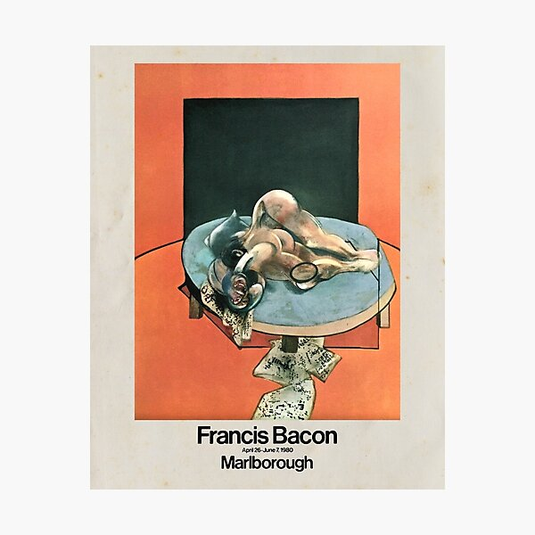 Francis Bacon 1980 art exhibition Photographic Print