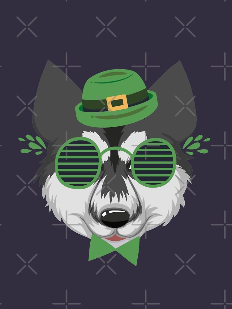 funny  siberian husky Dog Head Eyeglasses For St. Patrick's Day Sticker  Gift for  boyfriend  Gift for husband  by Mayassin