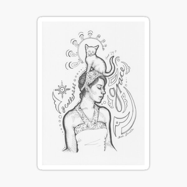 Gentleness And Grace Sticker