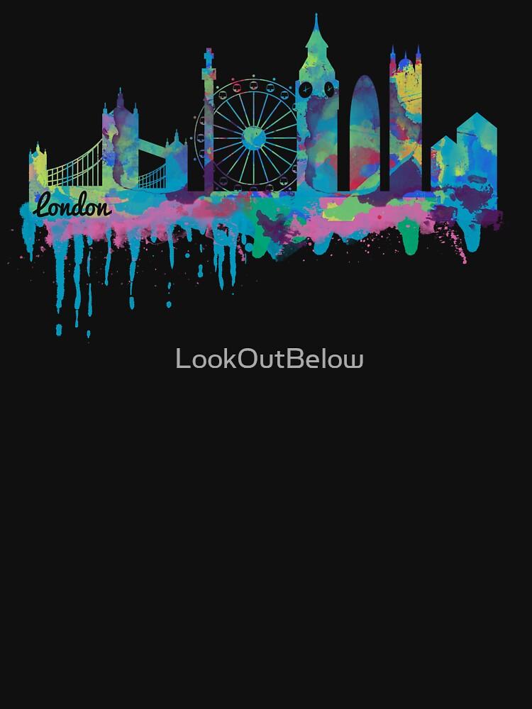 Inky London Skyline by LookOutBelow