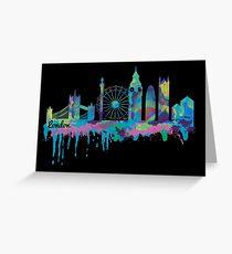 Inky London Skyline Greeting Card