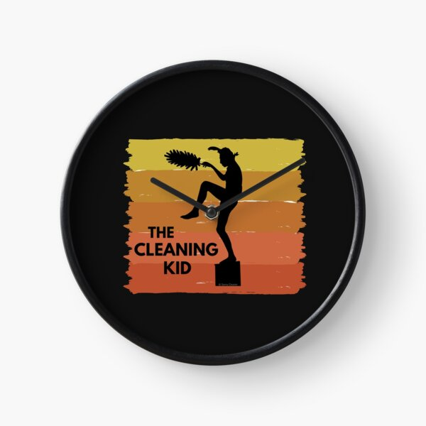 The Cleaning Kid + Movie Theme = Love Cleaning Clock