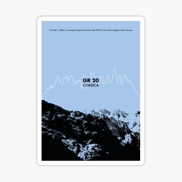 The GR 20 Elevation Art - Blue Sticker