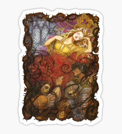 Sleeping Beauty and her dead suitors Sticker