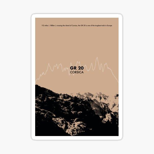 The GR 20 Elevation Art - Brown Sticker