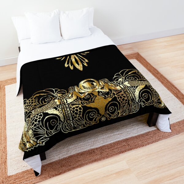Black And Gold Luxury Comforter