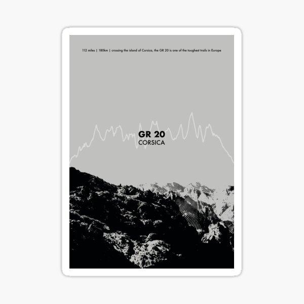 The GR 20 Elevation Art - Grey Sticker