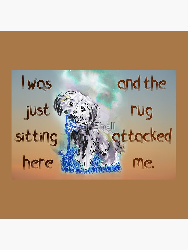Naughty Puppy Rug Attack Cavoodle Cavapoo by RynShell