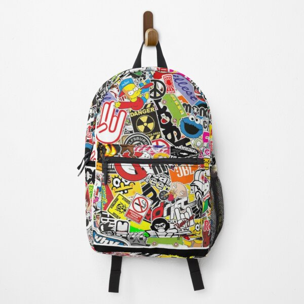 Sticker Bombed Backpack