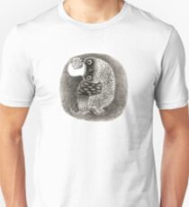 Lady Owl in a Retro Hat Unisex T-Shirt