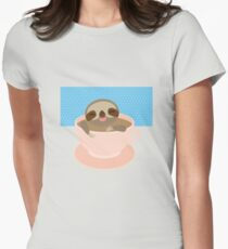 Sloth in a cup 2 Womens Fitted T-Shirt