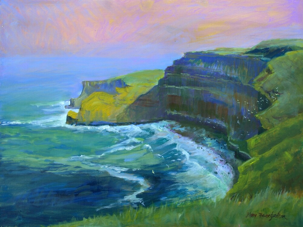 Cliffs of Moher, County Kerry,  by Mary Faux Jackson by HurstPainters