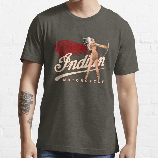 Indian Motorcycle PinUp Indian Girl T-shirt, hoodie, sticker, mask Essential T-Shirt