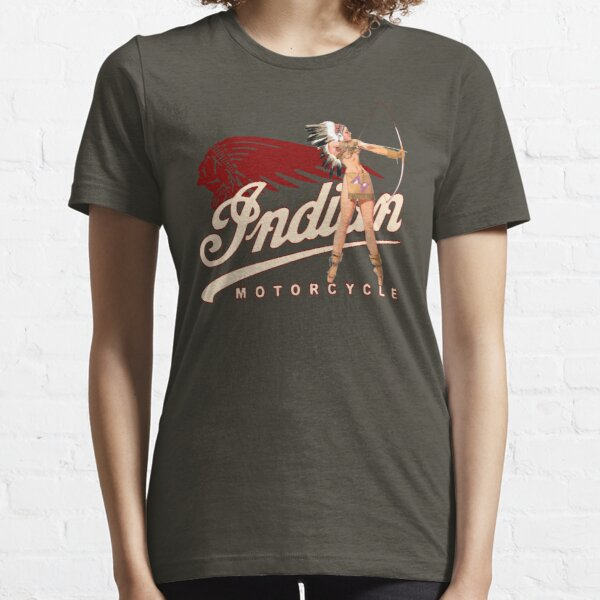Indian Motorcycle PinUp Indian Girl T-shirt, sweat à capuche, autocollant, masque T-shirt essentiel