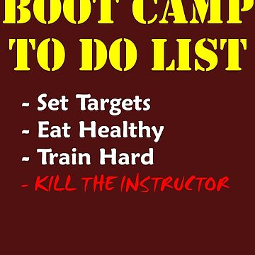 Boot Camp To Do 1 by NostalgiCon