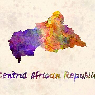 Central African Republic in watercolor by paulrommer
