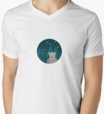 Cute white bear on background T-Shirt