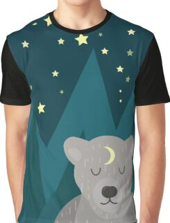 Cute white bear on background Graphic T-Shirt