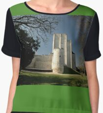 Donjon, Medieval City, Loches, France, Europe 2012 Chiffon Top