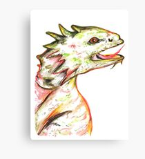 Little Green Dragon Canvas Print