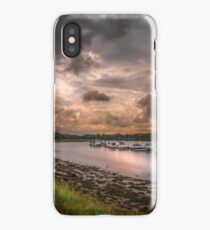 Hamble River in England at sunset iPhone Case/Skin