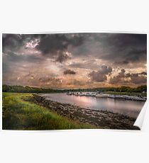 Hamble River in England at sunset Poster