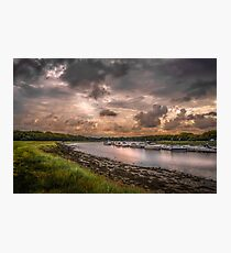 Hamble River in England at sunset Photographic Print