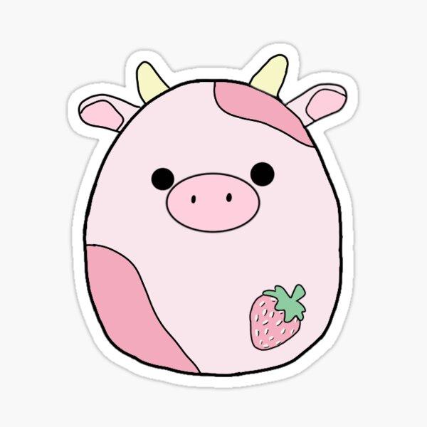 strawberry cow squishmallow Sticker