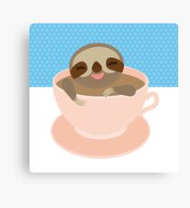 Sloth in a cup 2 Canvas Print