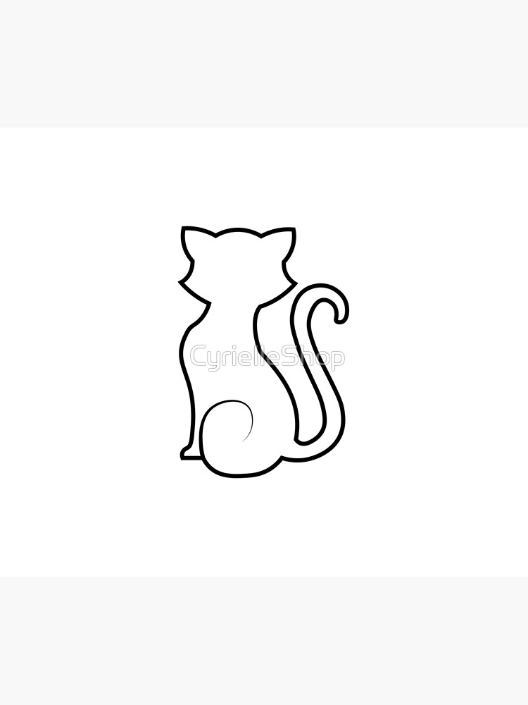Little white cat silhouette by CyrielleShop