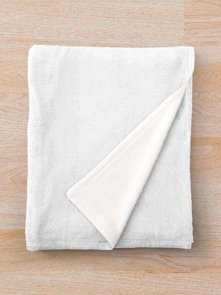 Alternate view of Little white cat silhouette Throw Blanket