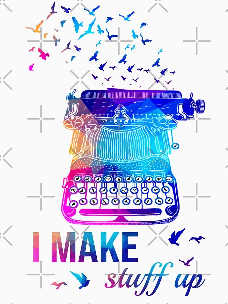 I make Stuff Up Cute Colorful Typewriter Gift  by Abidilana