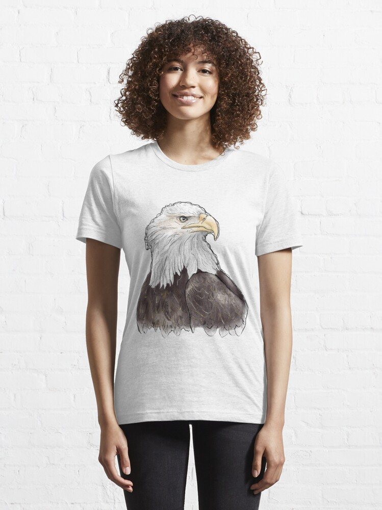 Alternate view of Watercolor Eagle Essential T-Shirt