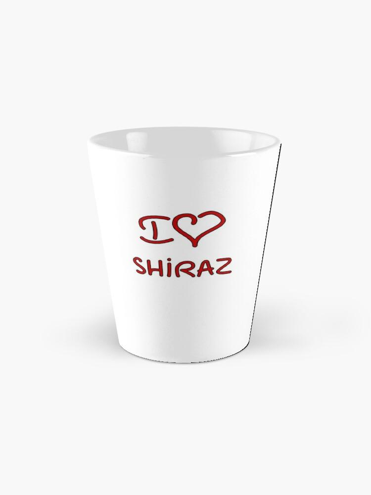 Alternate view of I Love Shiraz Mug
