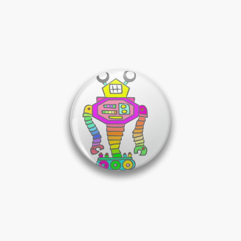 Robot looking like a Snail Pin